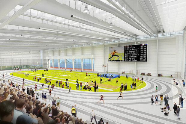 long kitchen islands diy counters take a look inside staten island's new $93m indoor track ...