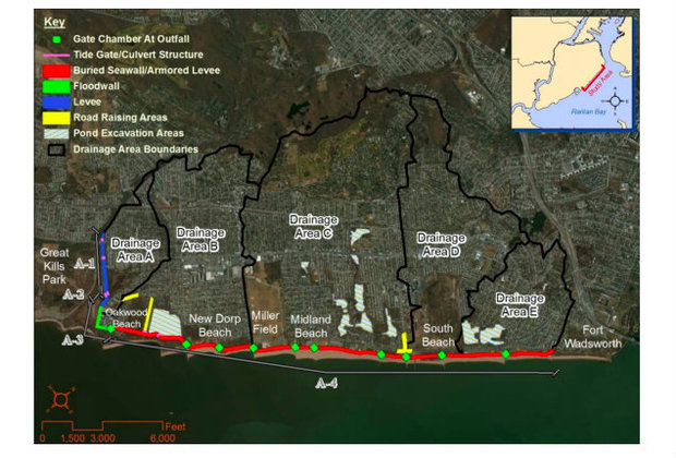 Flood Plan That Would Bring Sea Wall to Staten Island