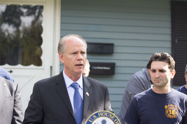 Despite widespread opposition in the city, Rep. Dan Donovan praised President Donald Trump's executive order temporarily banning immigrants from seven predominantly Muslim countries.