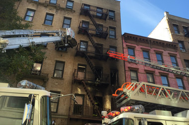 A fire broke out in a Williamsburg apartment building, officials said.
