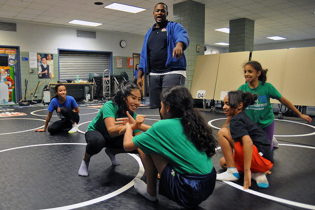 VIDEO All Girls Wrestling Team A Hit At Inwood School