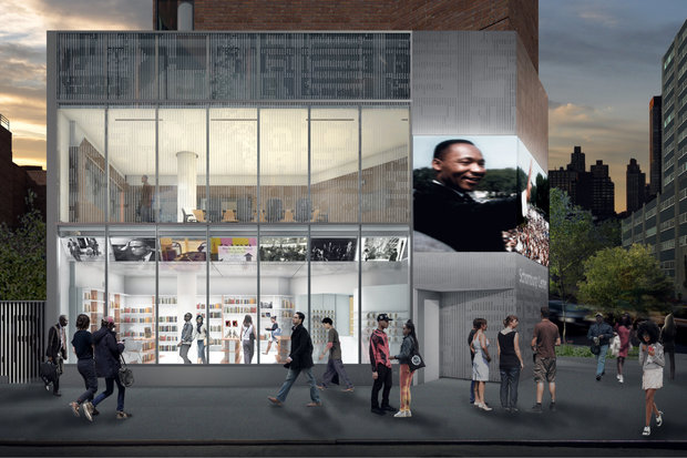 The ambitious renovation project includes installing a high-definition LED screen on the facade, new benches and landscape on Lenox Avenue, expansions to the gift shop and research spaces, and adding a new exhibition space for children.