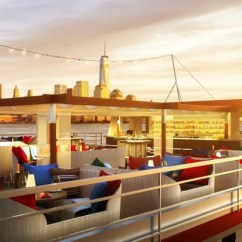Floating Island Kitchen Rustic Wood Seafood Bar And Eatery Heading To Pier 81 On The ...