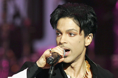 Prince, performing in 2005.
