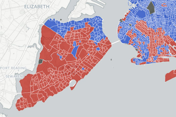 In NYCs Trump Stronghold Some Neighborhoods Go Strongly
