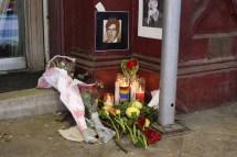 Leonard Cohen Memorial Grows In Front Of Chelsea