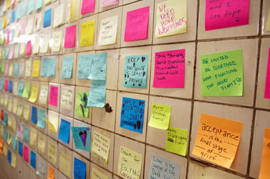 post it notes with