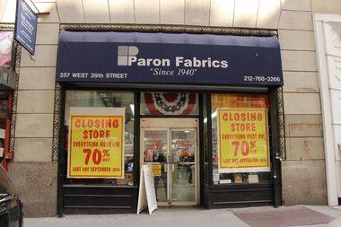 Paron Fabrics at 257 W. 39th St., near Eighth Avenue.