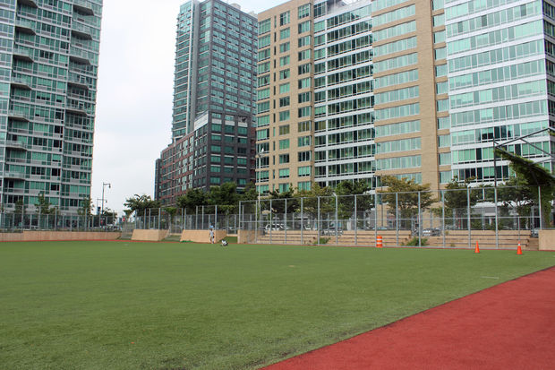 The Queens West Sports Field At Gantry Plaza State Park