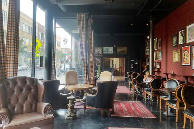 leather wingback chairs babys first chair 2 new cafe, hangout haven lounge opens on milwaukee avenue: photos - wicker park chicago dnainfo