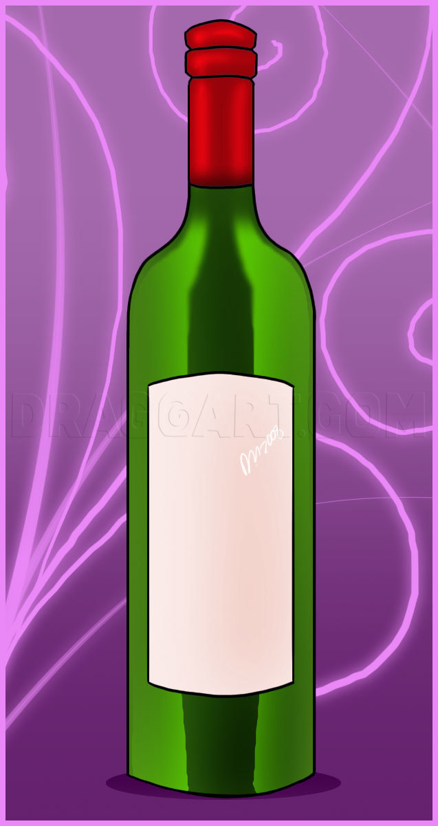 Free Vector | Wine bottle drawing