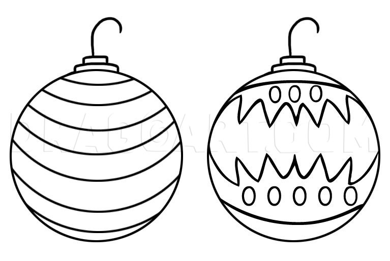 How To Draw Christmas Ornaments Step By Step Drawing Guide By Dawn Dragoart Com