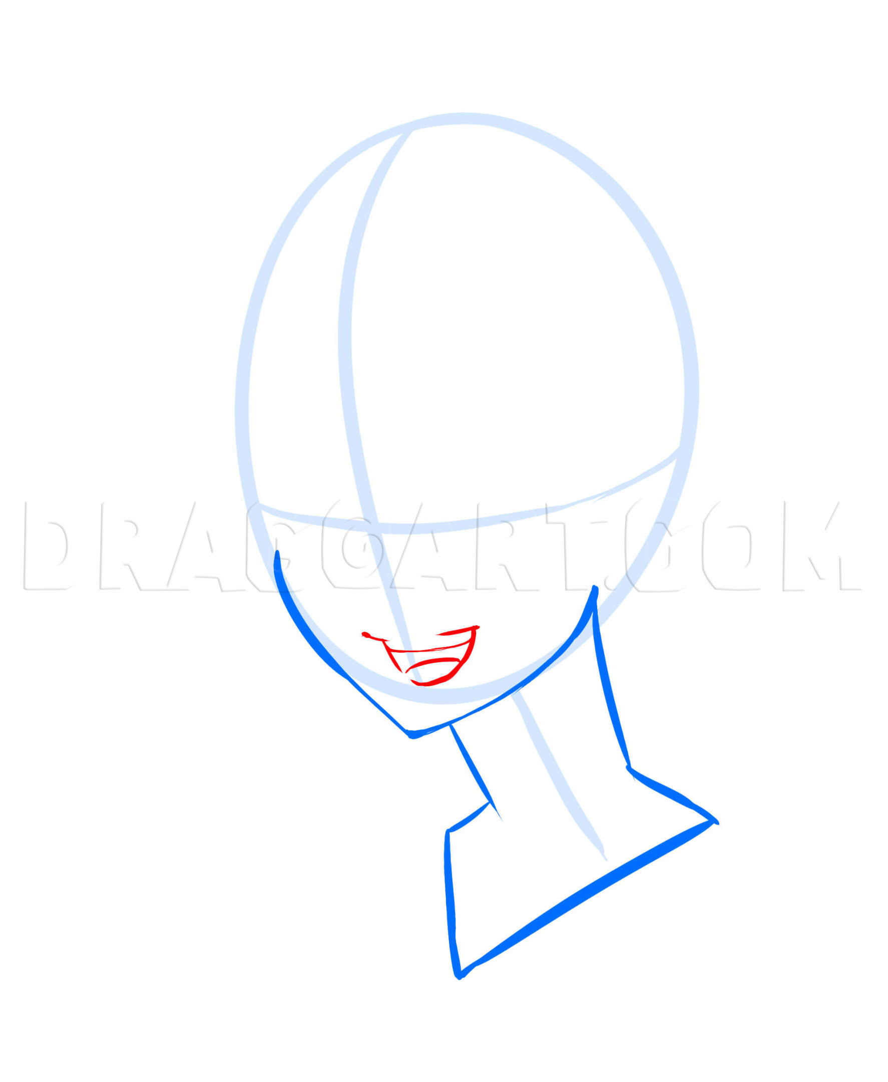 How To Draw An Anime Mouth : anime, mouth, Anime, Faces,, Step,, Drawing, Guide,, PuzzlePieces, Dragoart.com