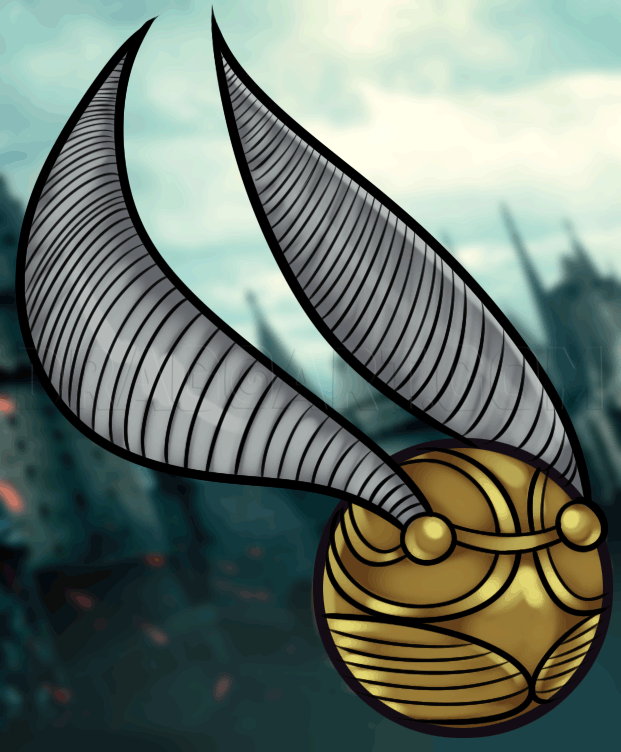 Harry Potter Snitch Drawing : harry, potter, snitch, drawing, Golden, Snitch,, Step,, Drawing, Guide,, Dragoart.com