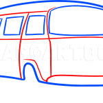 How To Draw A Hippie Van Step By Step Drawing Guide By Dawn Dragoart Com