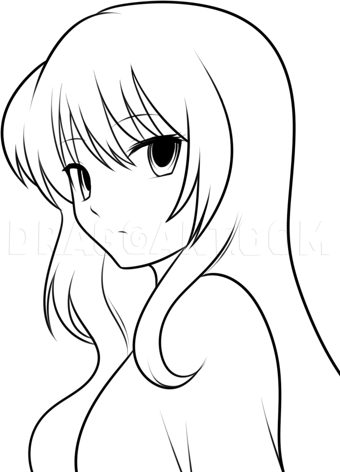 How To Draw An Anime Girl : anime, Anime, Kids,, Step,, Drawing, Guide,, Dragoart.com