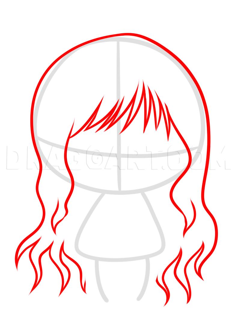 How To Draw Chibi Hair : chibi, Chibi, Blake, Rwby,, Step,, Drawing, Guide,, Dragoart.com