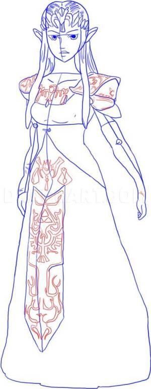 zelda draw step dragoart
