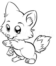 How To Draw A Cute Wolf Step by Step Drawing Guide by Dawn dragoart com
