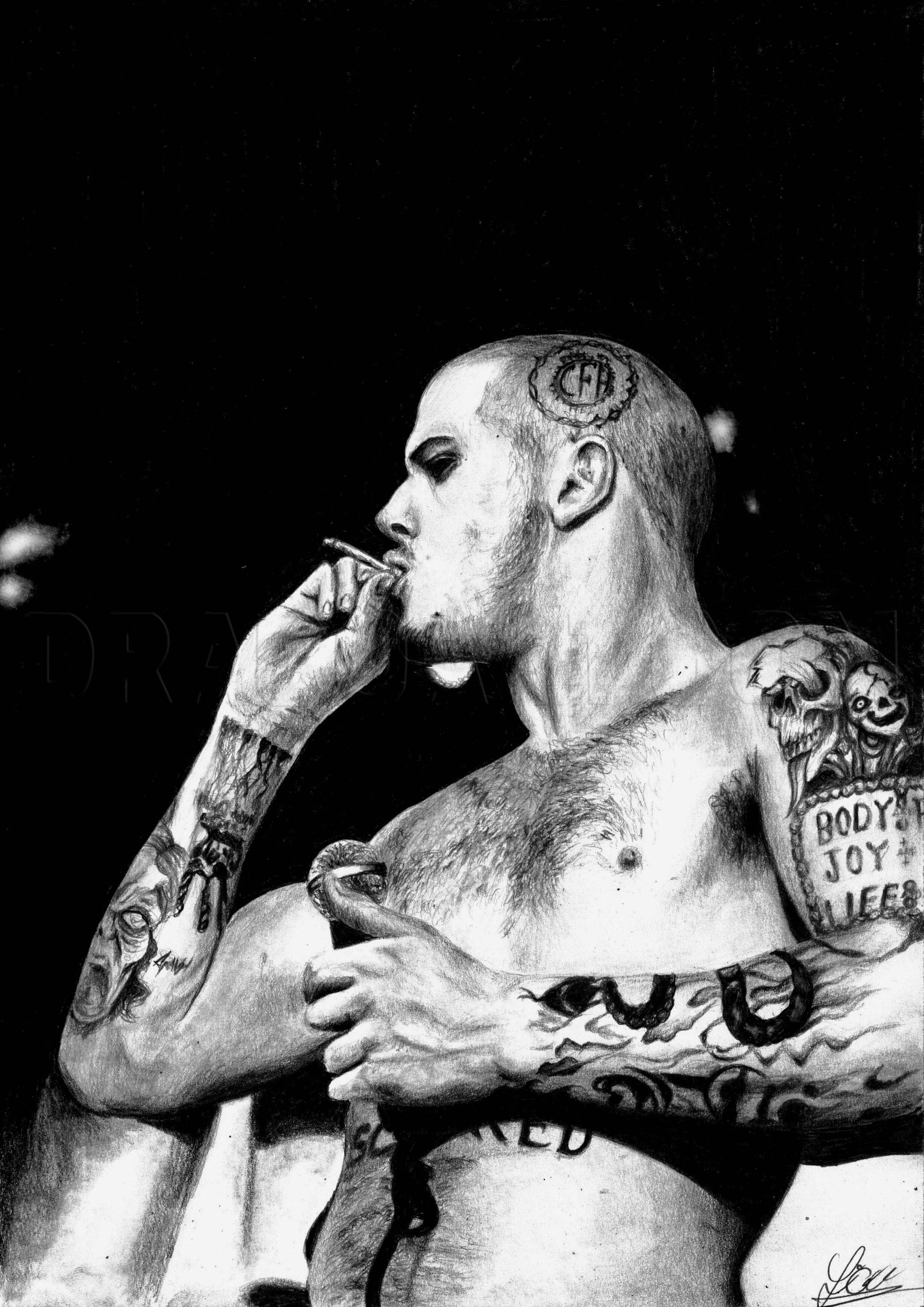Phil Anselmo Tatoo : anselmo, tatoo, Anselmo, Pantera,, Step,, Drawing, Guide,, DuskEyes969, Dragoart.com
