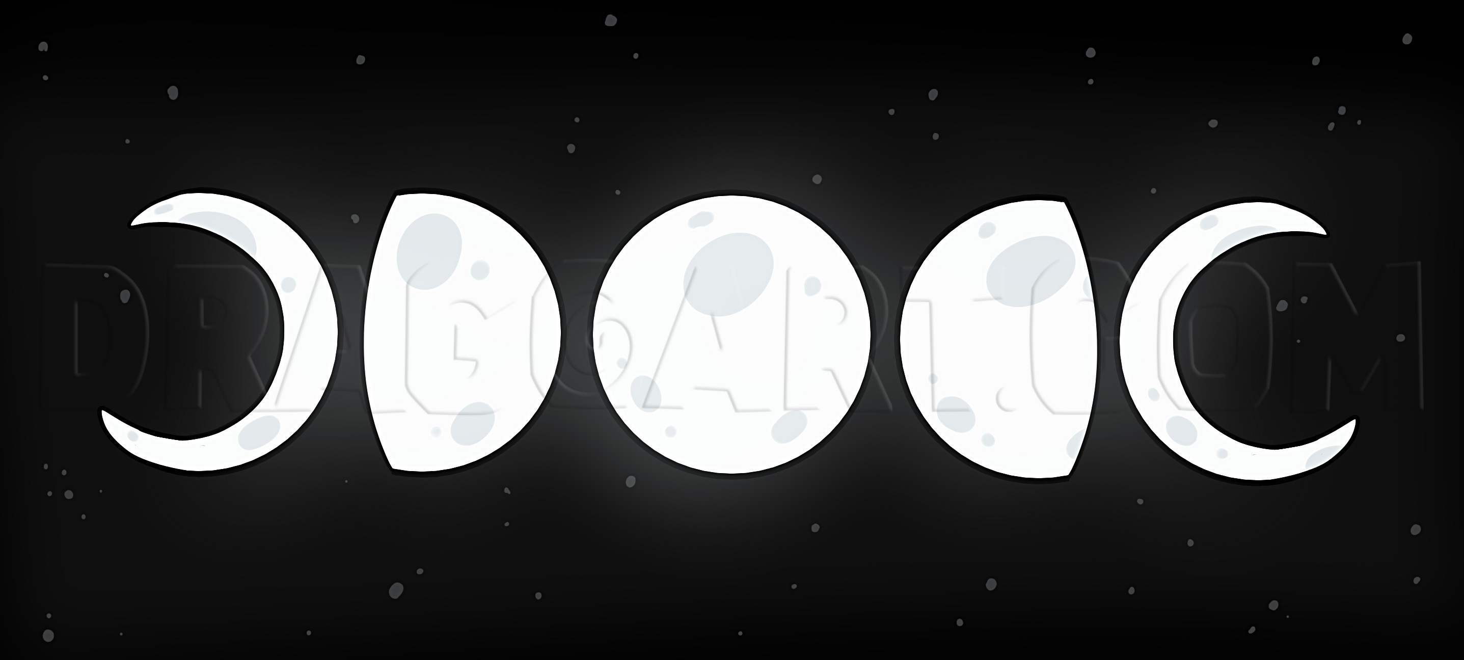 How To Draw Moon Phases Step By Step Drawing Guide By