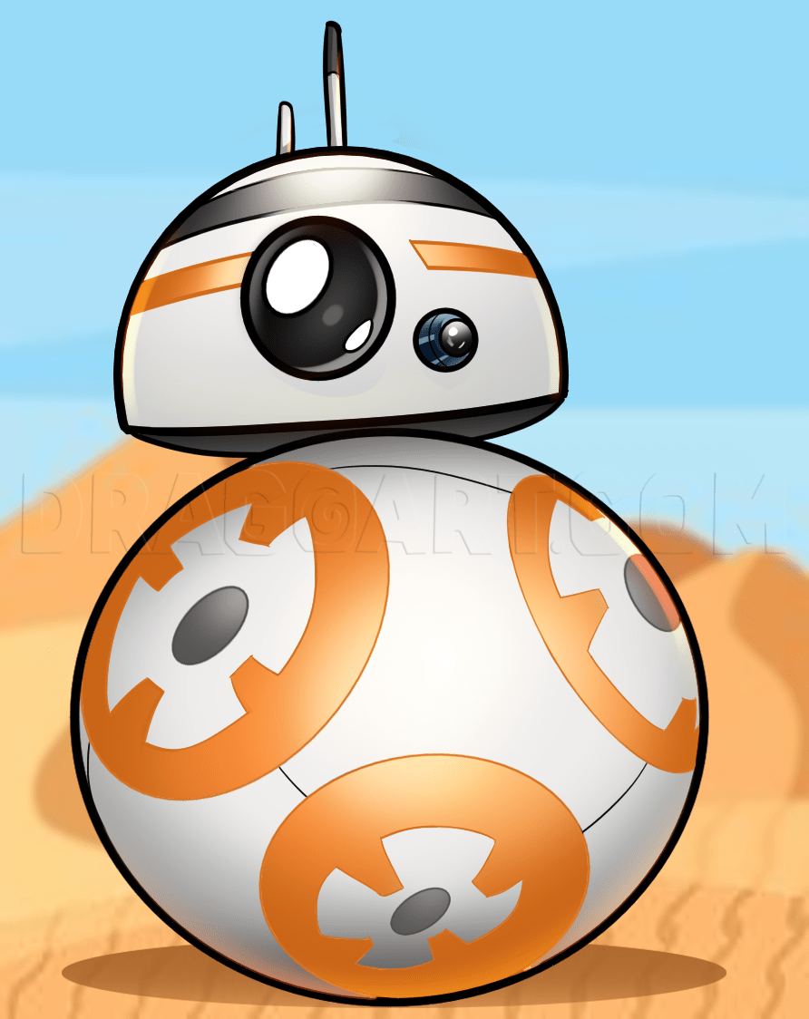 Bb8 Drawing : drawing, Chibi, Step,, Drawing, Guide,, Dragoart.com