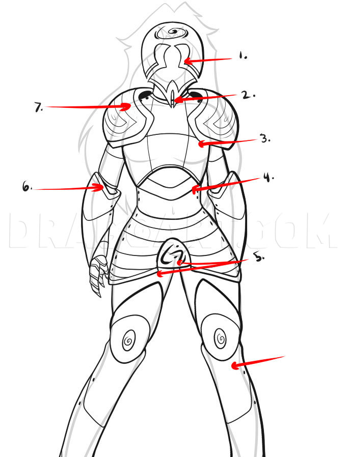 Drawing Of Armor : drawing, armor, Armor,, Step,, Drawing, Guide,, Dragoart.com