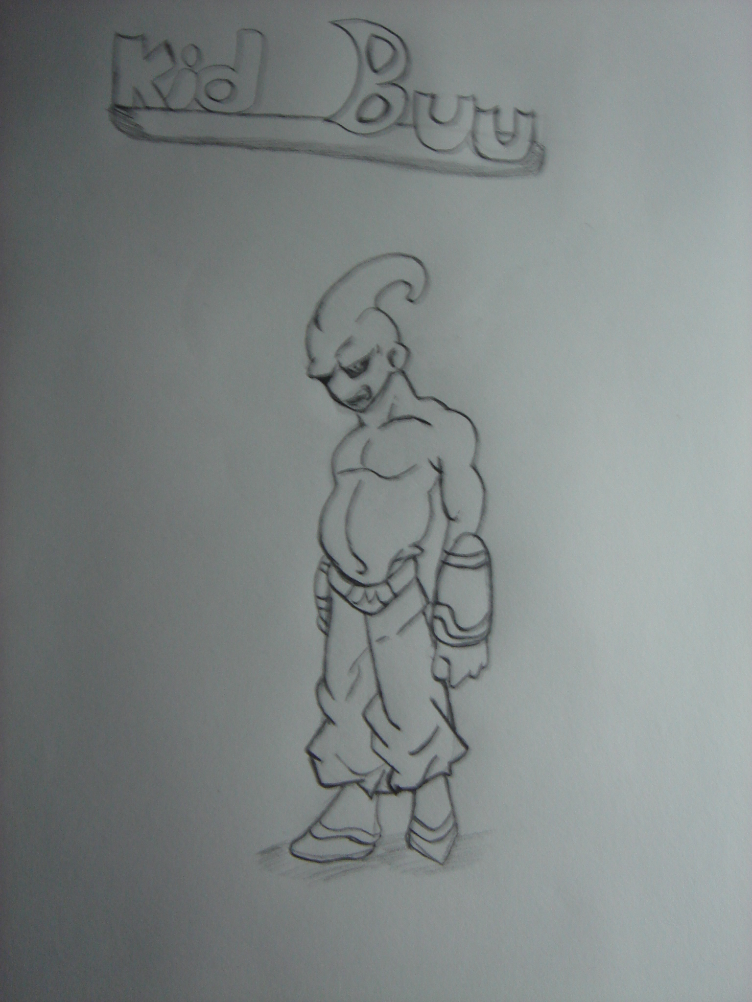 Kid Buu Drawing : drawing, Drawing, Feltonand, Dragoart.com