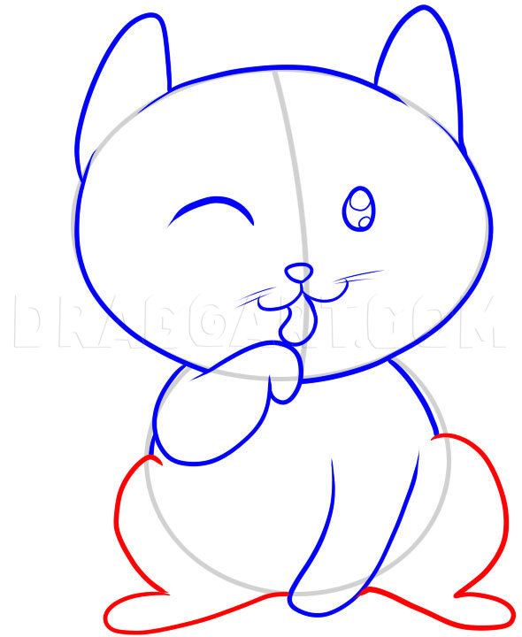 How To Draw A Cat For Kids Step By Step Drawing Guide By Dawn Dragoart Com