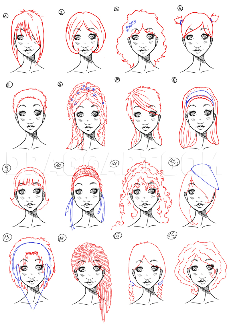 Pictures Of Girls To Draw : pictures, girls, Pretty, Girls,, Step,, Drawing, Guide,, NeekoNoir, Dragoart.com