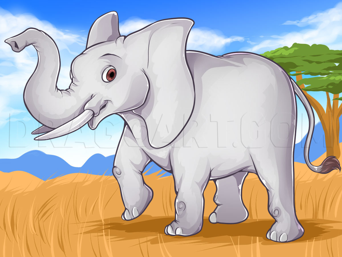 How To Draw An Easy Elephant Step By Step Drawing Guide By Dawn Dragoart Com