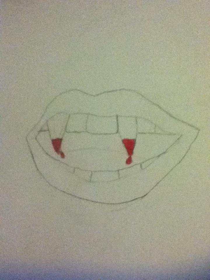 Vampire Teeth Drawing : vampire, teeth, drawing, Vampire, Teeth, Drawing, XDmikaylaXD, Dragoart.com