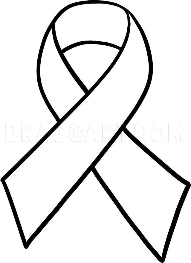 Cancer Ribbon Drawing : cancer, ribbon, drawing, Cancer, Ribbon,, Breast, Step,, Drawing, Guide,, Dragoart.com