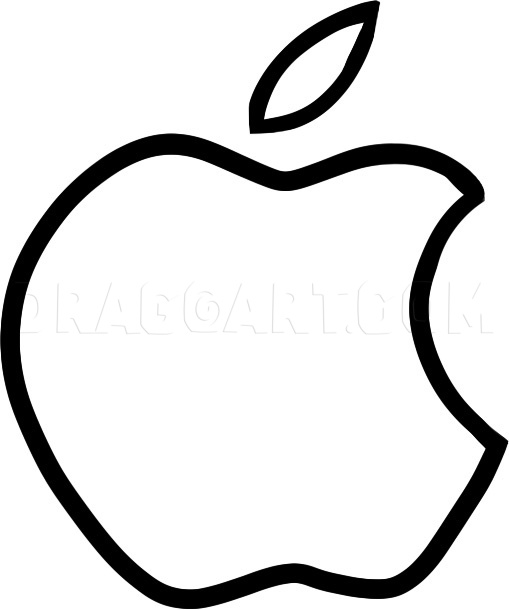 How To Draw The Apple Logo, Apple Logo, Step by Step