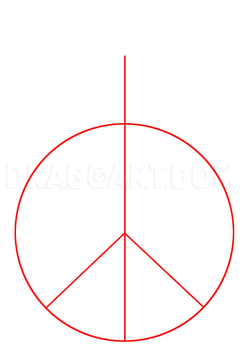 How To Draw A Peace Sign : peace, Peace, Sign,, Step,, Drawing, Guide,, Dragoart.com