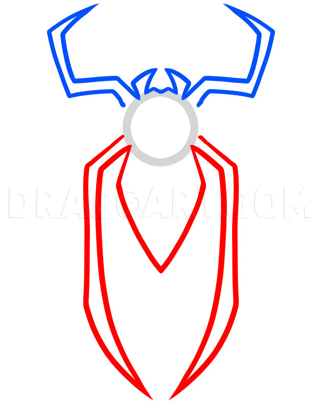 How To Draw Spiderman Step By Step Easy : spiderman, Spiderman, Logo,, Symbol,, Step,, Drawing, Guide,, Dragoart.com