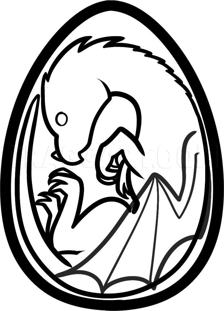 How To Draw A Baby Dragon In A Egg : dragon, Dragon, Step,, Drawing, Guide,, Dragoart.com