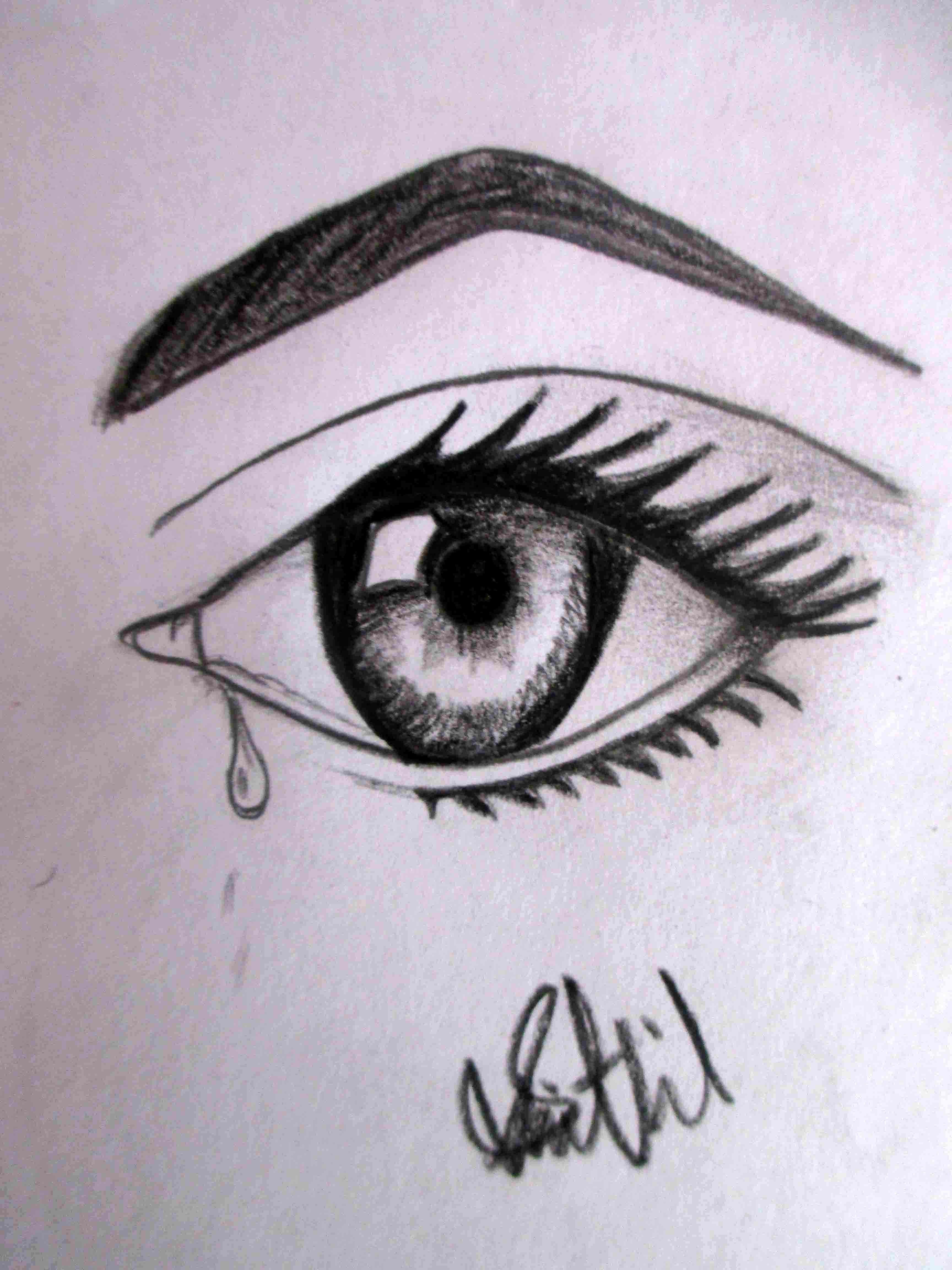 Sad Eyes Drawing : drawing, Drawing, Shithil099, Dragoart.com