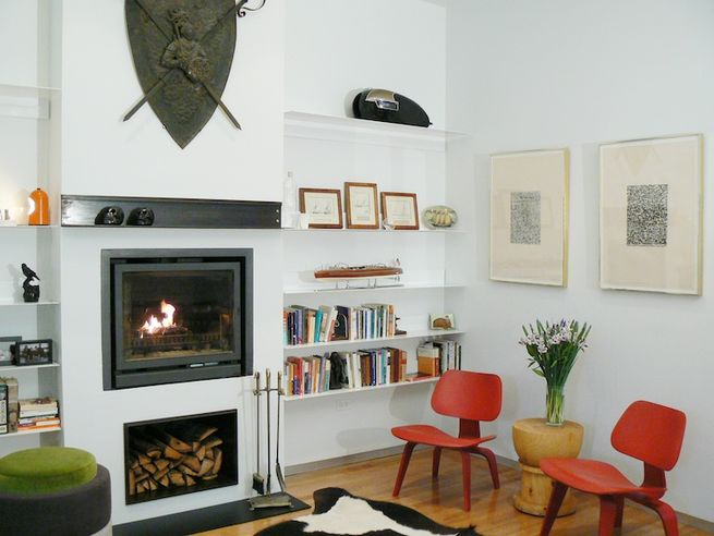 <br /><br /><br />   Study</p><br /><br /> <p>The fireplace-equipped study greets guests entering from the lower level.<br /><br /><br /> Photo by Morlen Sinoway</p><br /><br /> <p>