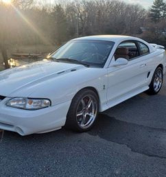 ford mustang svt cobra coupe 1995 white car for sale  [ 1200 x 900 Pixel ]