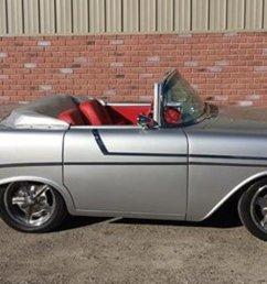chevrolet bel air replica cabriolet roadster 1956 silver car for sale  [ 1200 x 675 Pixel ]