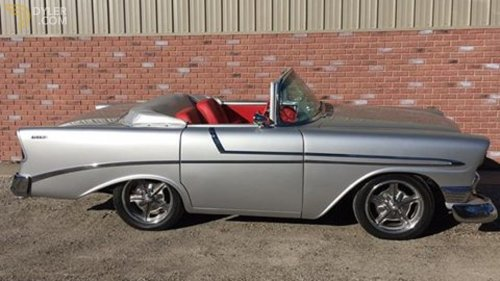 small resolution of chevrolet bel air replica cabriolet roadster 1956 silver car for sale