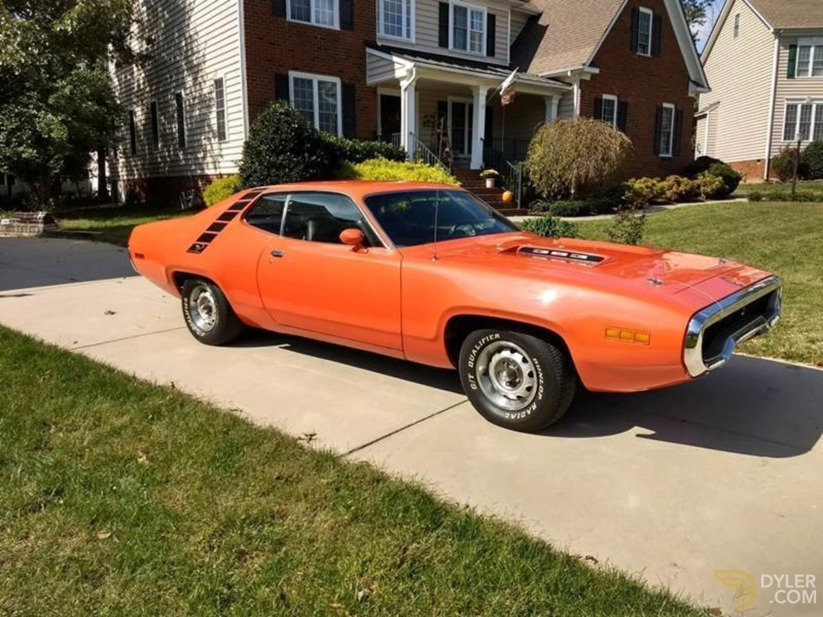 hight resolution of plymouth road runner coupe 1971 orange car for sale