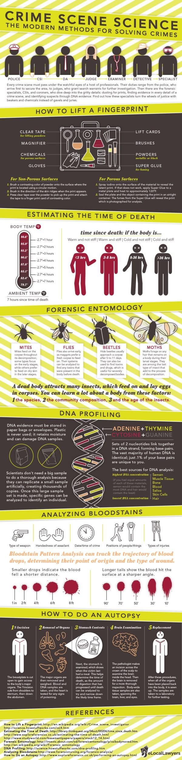 Crime Scene Science Infographic