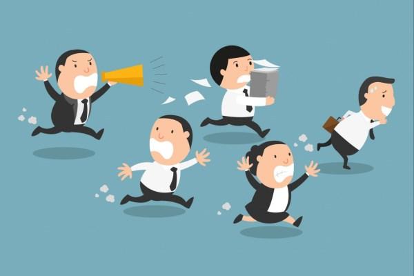 Running From Work Boss Cartoon
