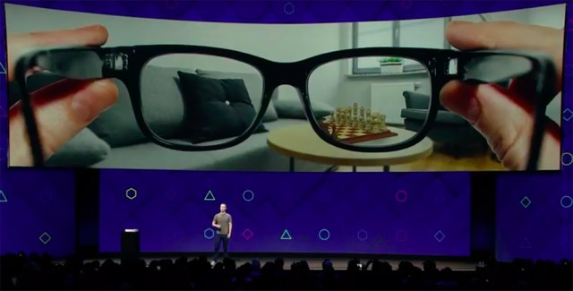 glasses like these are the ultimate goal of Facebook's augmented reality efforts