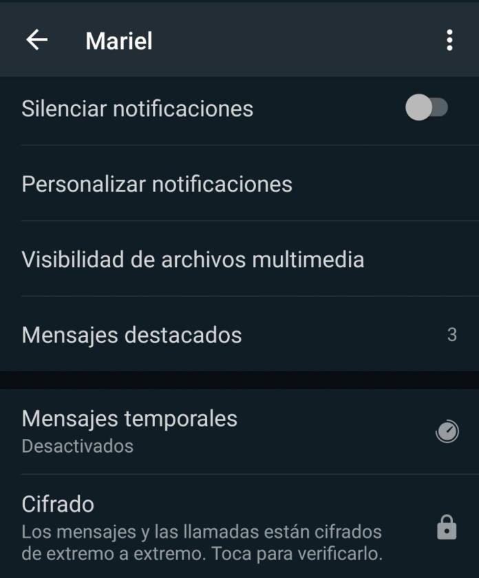 1619805789 Mensajes Temporales 1 How To Activate Or Deactivate Temporary Messages In Whatsapp?