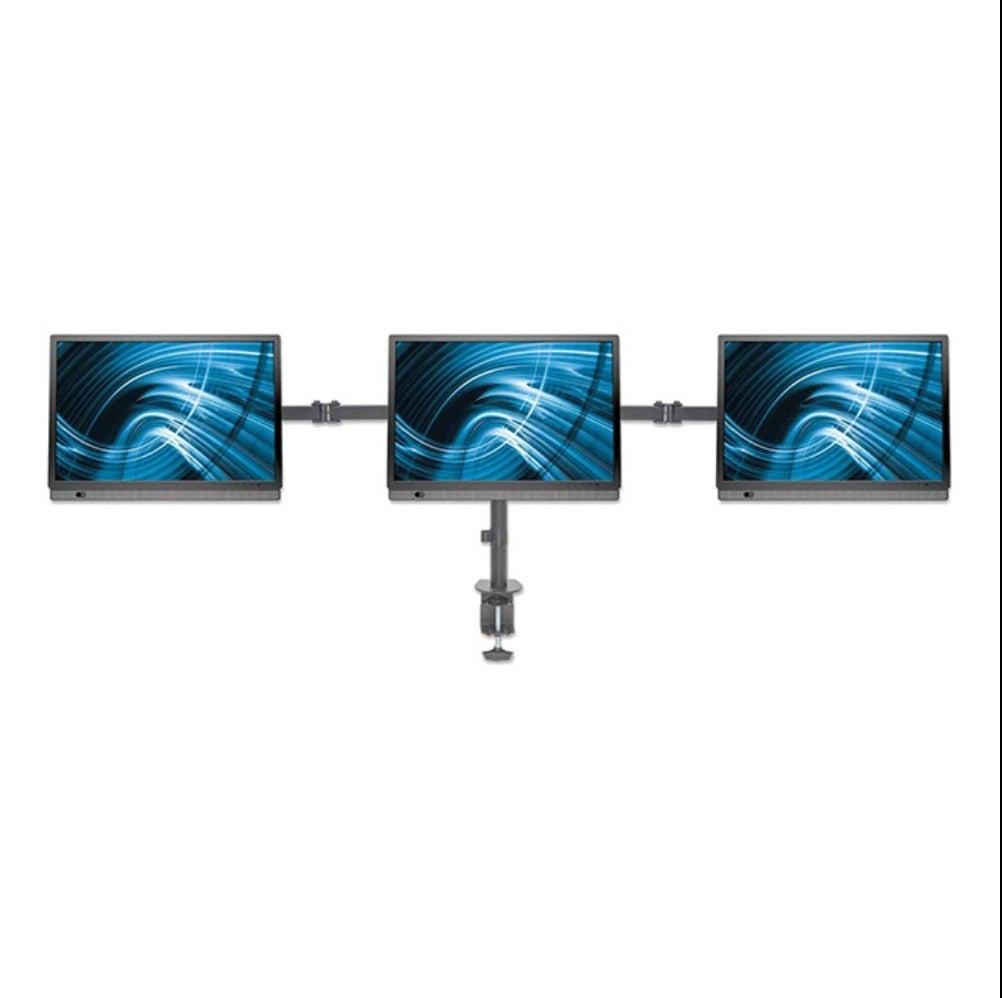 Support d'écran LCD avec support central et bras pivotants double lien