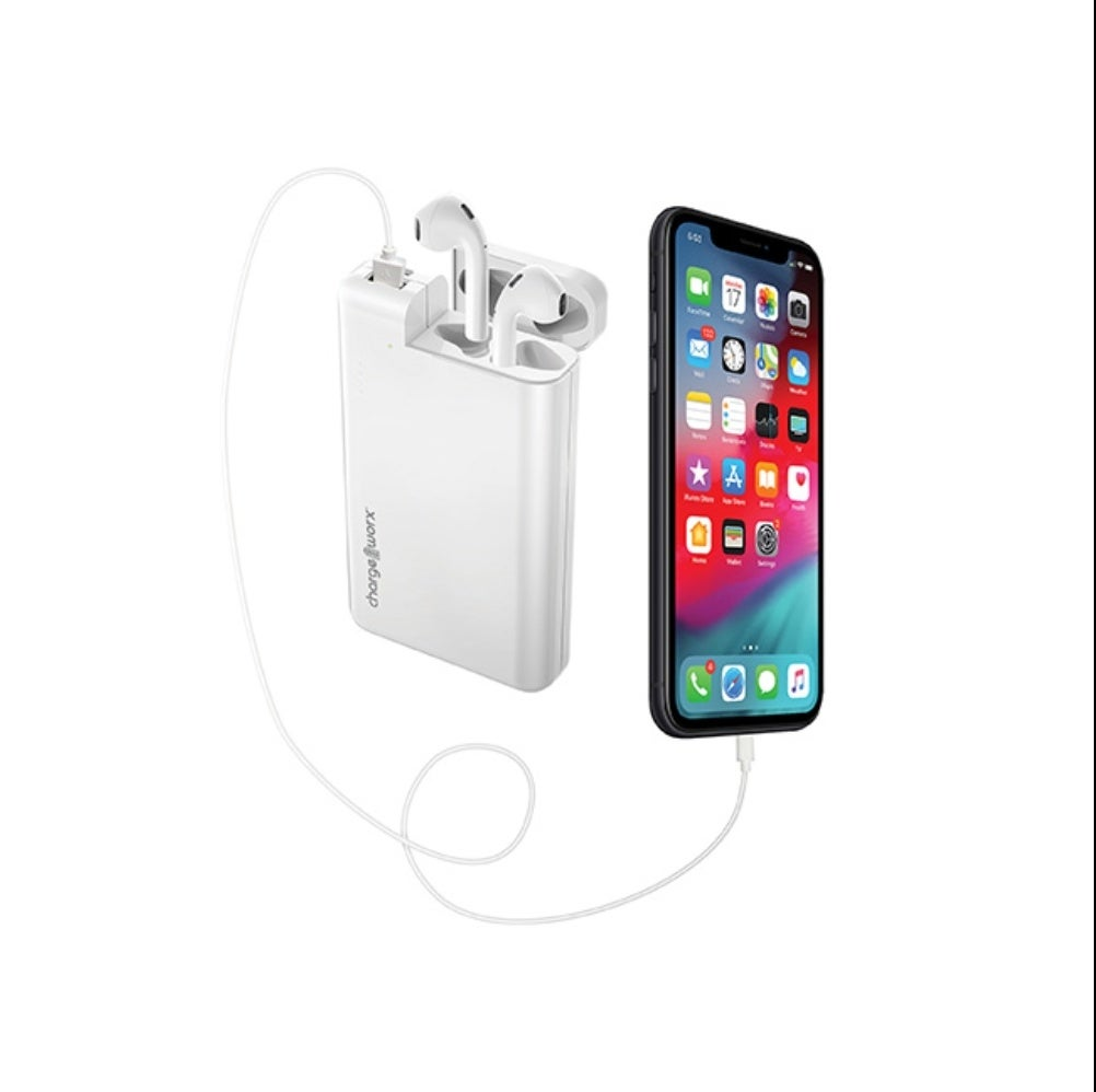 Chargeworx 10000 mAh external battery with AirPods holder