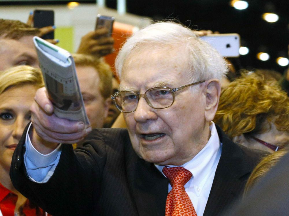 Warren Buffett starts his days with an assortment of national and local news.